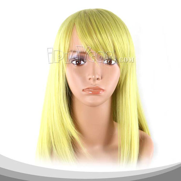 Moon Yellow Long Straight Cosplay Wig