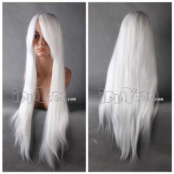 White Long Straight Anime Cosplay Wig