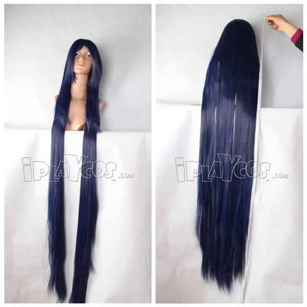 Blue Long Straight Anime Cosplay Wig Full Lace Wig
