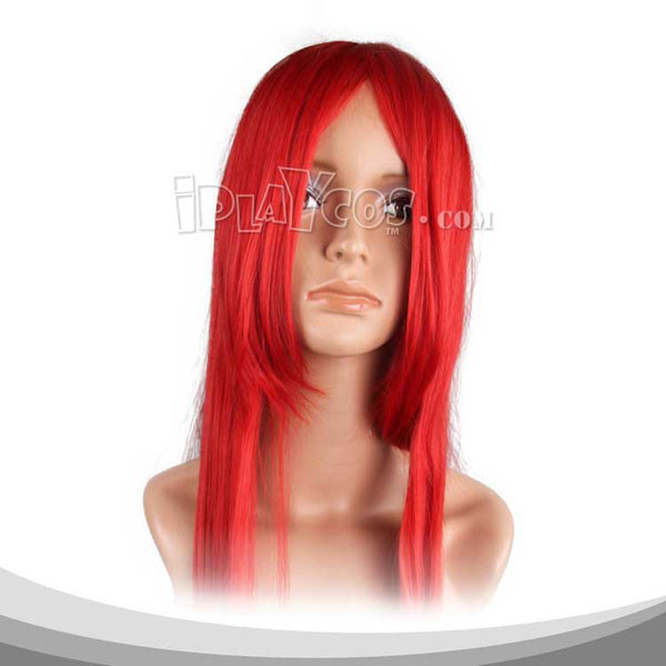 Dark Red Long Straight Cosplay Wig