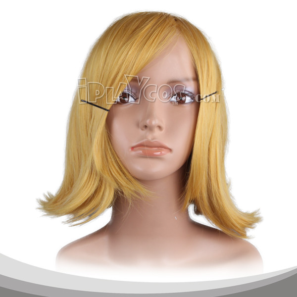 Gold Medium Wavy Cosplay Wig