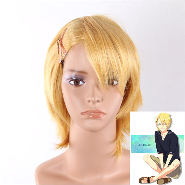 Yellow Short Straight Cosplay Anime Wig