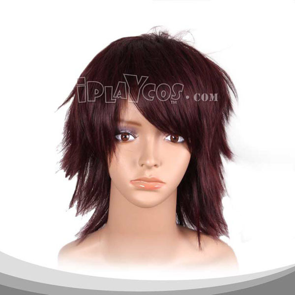 Maroon Medium Straight Cosplay Wig