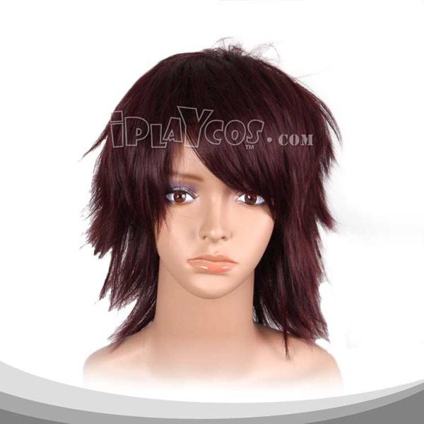 Maroon Medium Straight Cosplay Wig
