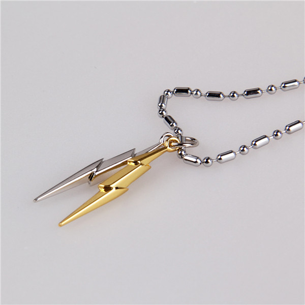 Anime Harry Potter Head Lightning Scar Logo Metal Necklaces Pendants Men Jewelry Key Ring Pendant Chain