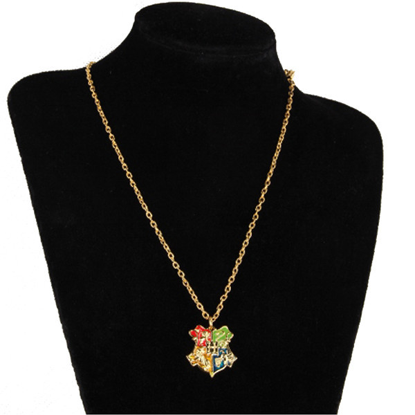 Harry Potter Hogwarts School Badge Necklace College Necklace