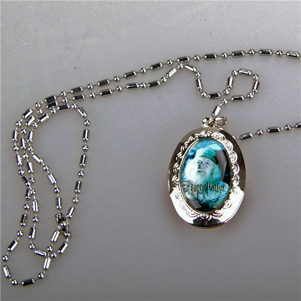 Harry Potter Professor Dumbledore Metal Locket Pendant Necklace