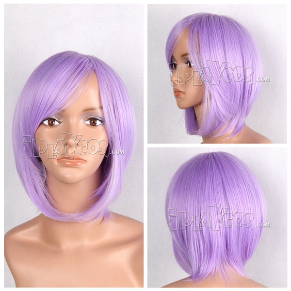 Mauve Purple Short Straight Anime Cosplay Wig