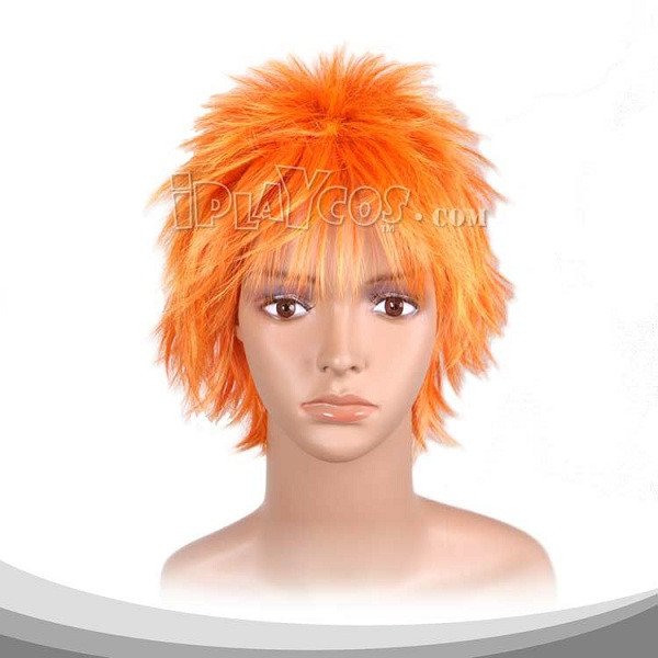 Sun Orange Short Flying Cosplay Wig