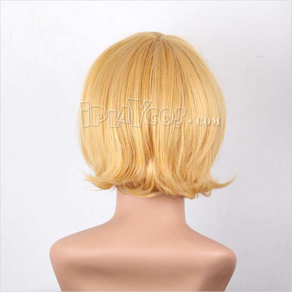 Yellow Short Back Curly Cosplry Wig