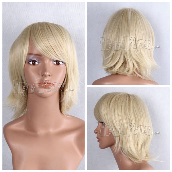 Pink Short Curly Anime Cosplay Wig
