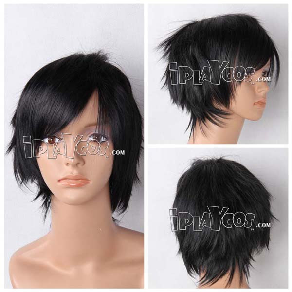 Black Short Straight Anime Cosplay Wig