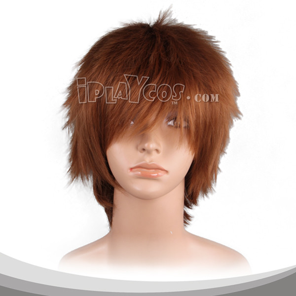 Saddle Brown Short Fluffy Cosplay Wig
