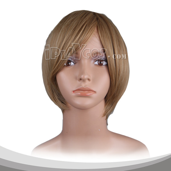 Dark Khaki Short Cosplay Wig