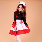 Maid Dress Cosplay Japanese Maid Costume Sexy Lolita Apron Dress Set Ladies