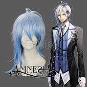 AMNESIA IKKI Blue Medium Straight Anime Cosplay Wig