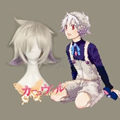 karneval NAI Short Straight Silvery-grey Anime Cosplay Wig