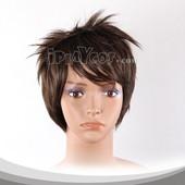 Dark Brown Short Straight Anime Cosplay Wig