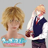 Uta No Prince Sama Taniyama Kisyou Medium Yellow Short Cosplay Wig