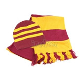 HARRY POTTER GRYFFINDOR SCARF AND HAT SET
