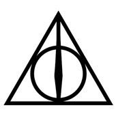 Harry Potter Deathly Hallows Luna Lovegood Triangle Tattoo Body Sticker Nontoxic And Tasteless