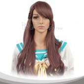 Brown Medium Curly Cosplay Wig