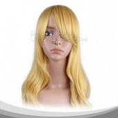 Yellow Long Wavy Cosplay Wig
