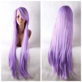 Purple Long Straight Anime Cosplay Wig