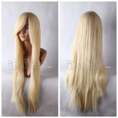 Blonde 80cm Long Straight Anime Cosplay Synthetic Wig