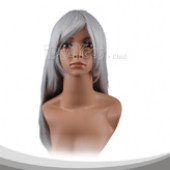 Silver Grey Long Straight Cosplay Wig