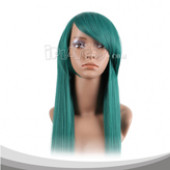 Green Long Straight Cosplay Wig