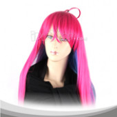 Blue Red Gradient Long Straight Cosplay Wig