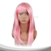 Light Pink Long Straight Hair End Alice Cosplay Wig