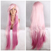 Pink Plum Fusion Long Straight Anime Cosplay Wig