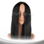 Black Long Halve Straight Cosplay Wig