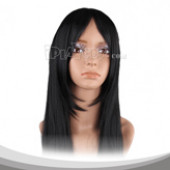 Black Long Straight Cosplay Wig