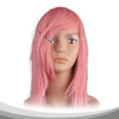 Lightcoral Long Straight Cosplay Wig