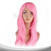 Pink Long Straight Cosplay Wig