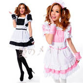 roromiya-karuta-maid-cosplay-lolita-princess-dress-costume-black-pink-apron-dress-set-s