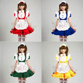 sweet-princess-cosplay-maid-clothes-lolita-yellow-blue-green-red-pink-apron-dress-set-maid-service-s