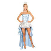 Blue European style princess cosplay maid dress