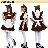 Japan's Animation The Fox with Nine Tails Maid Uniform Cosplay Dress