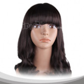 Brown Black Medium Wavy Cosplay Wig
