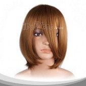 Borwn Medium Straight Cosplay Wig