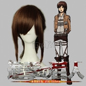 Attack on Titan Sasha Blaus Brown Medium Straight Anime Cosplay Wig