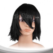 Black Medium Straight Cosplay Wig
