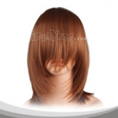 Ocher Brown Medium Straight Cosplay Wig