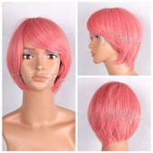 Red Short Straight Anime Cosplay Wig Full Lace Wig