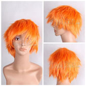 Orange Short Straight Anime Cosplay Wig