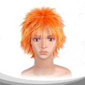 Sun Orange Short Flying Cosplay Wig